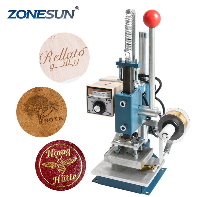 ZONESUN Guaranteed <strong>100</strong>% New Manual Hot Foil Stamping Tipper Machine,Golden Press Heat Printer Stamping Machine FOR PVC <strong>CARD</strong>