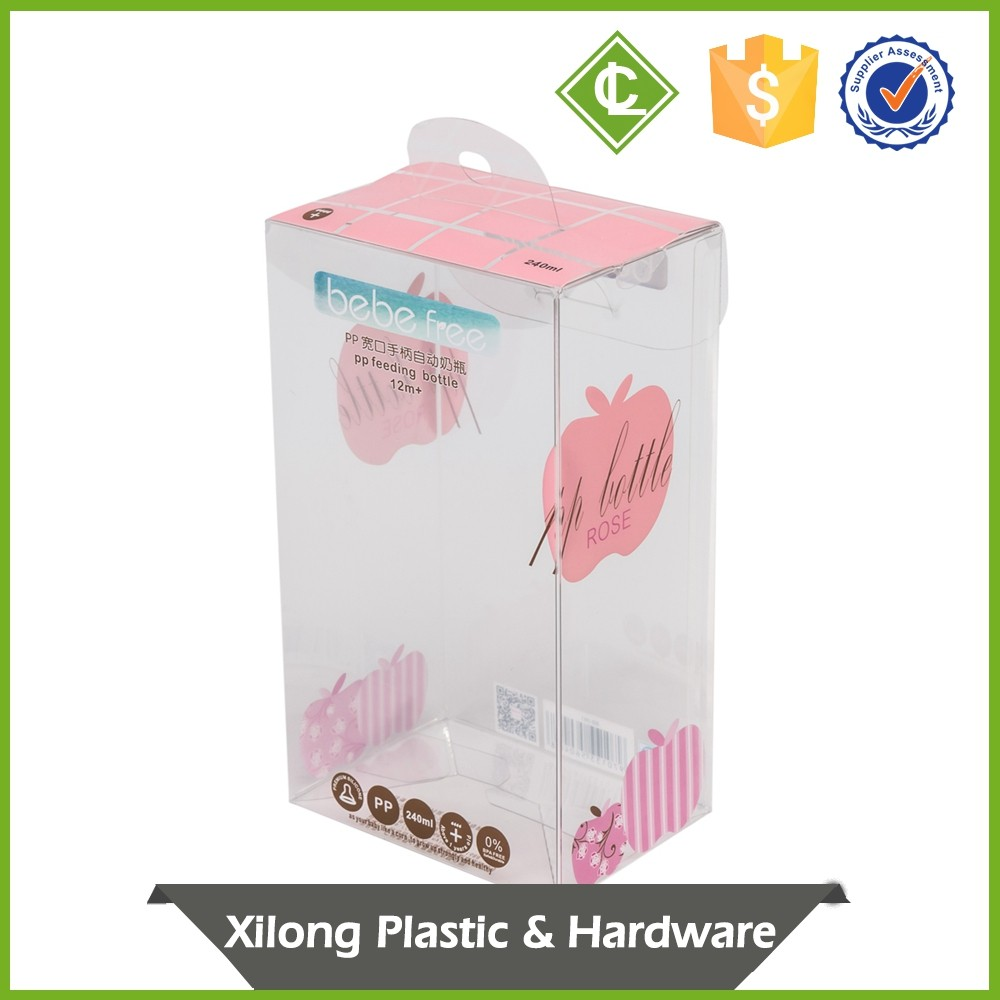 Oem Production Auto Bottom Double Folding Line Packaging Small Clear Flat Plastic Boxes