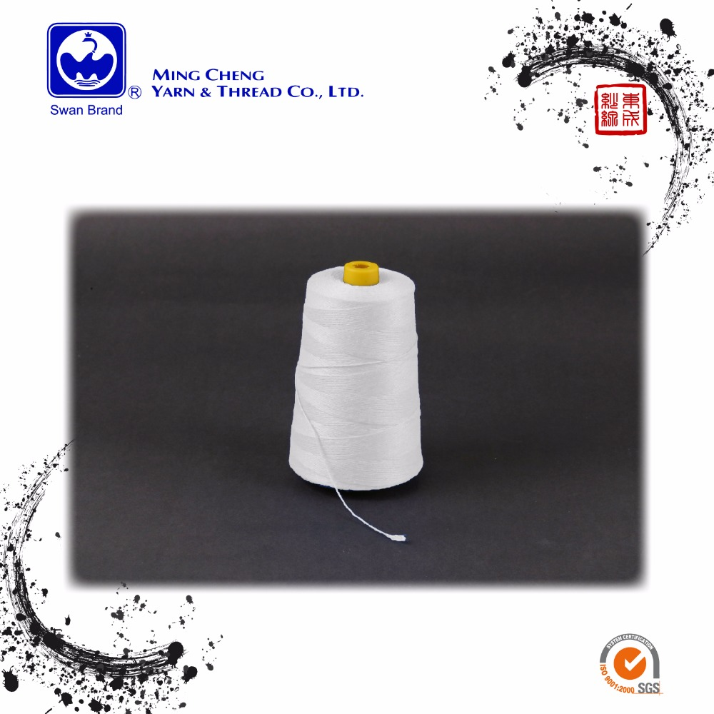 Yarn count 20 100 % spun polyester sewing thread for bag closing 100 poly sewing threads 100 polyester bag closing thread