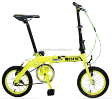WORTHY wholesale 14 inch hi-ten steel folding bike