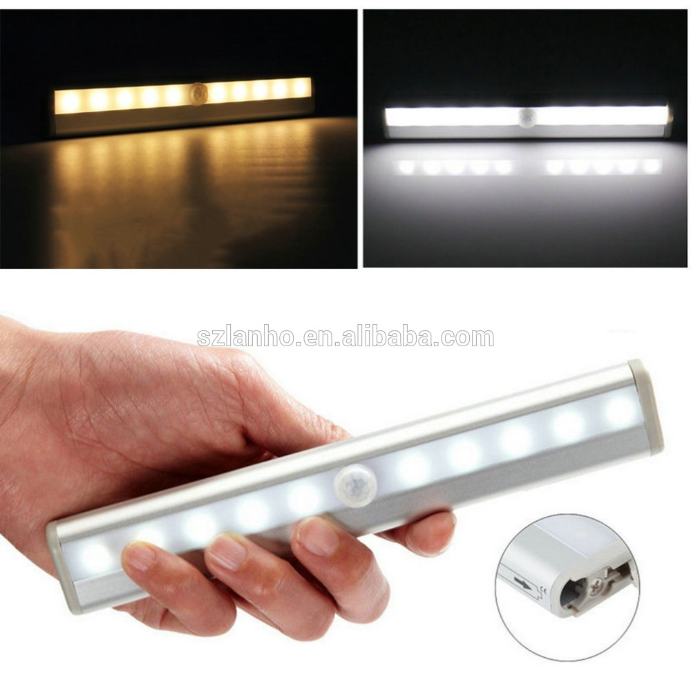 2016 New Arrival Motion Sensor LED Light 10 LED Closet Cabinet Light