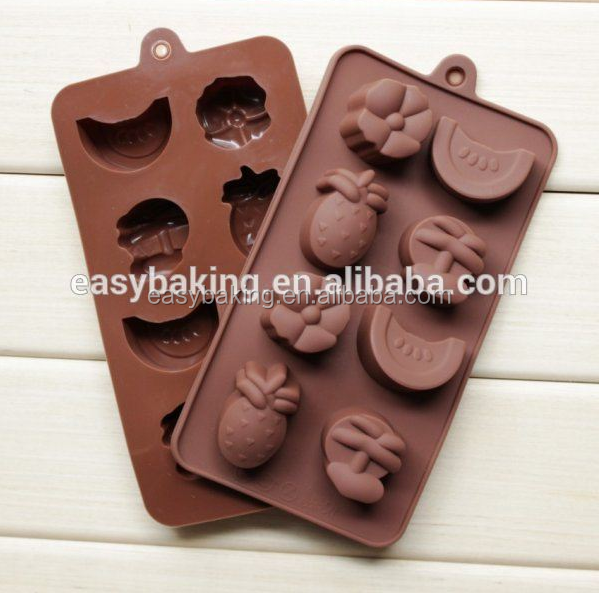 Silicone molds Fruit shape chocolate Molds Pineapple&Banana&Watermelon