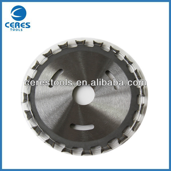 Double tungsten carbide tipped TCT circular saw blade for wood cutting