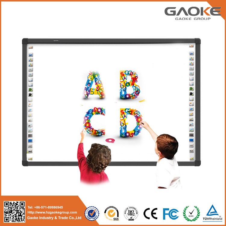 Interactive whiteboard kids 2017 electronic teaching board kinder garden 82'' 96'' digital board for classroom