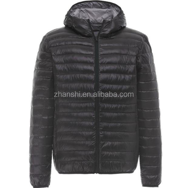 Fashion European Style Foldable Ultra Light Man Down Jacket For Winter