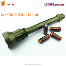 Hot sales Trustfire AK-90 high power rechargeable long distance torch 12x CRE E XM-L T6 torch led with 13000lumens