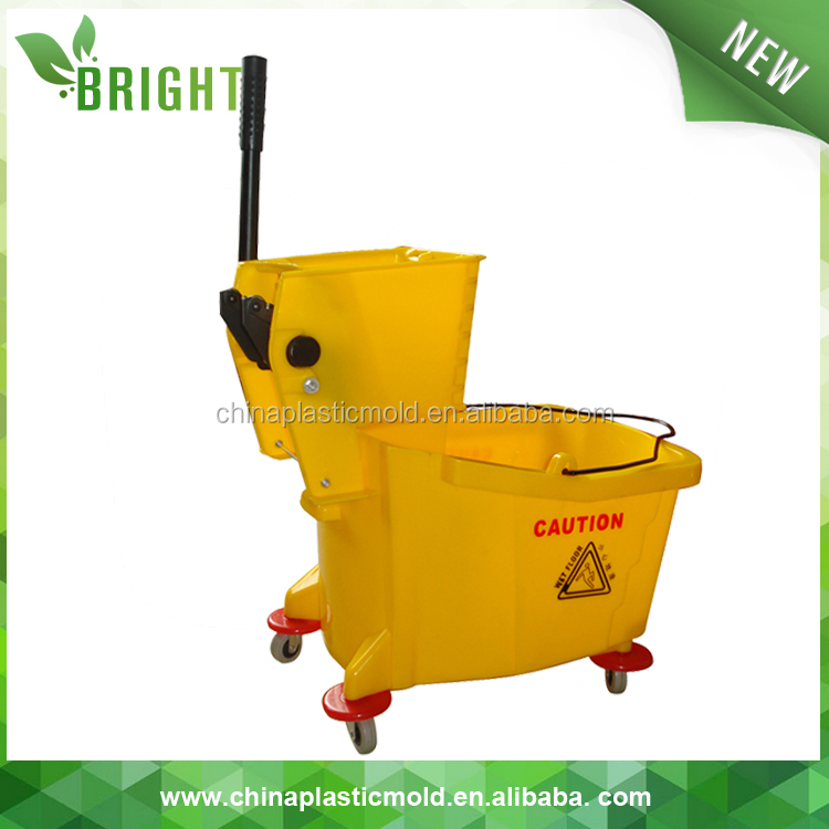 BB36 36L Industrial household plastic cleaning mop trolley wringer bucket with wheels