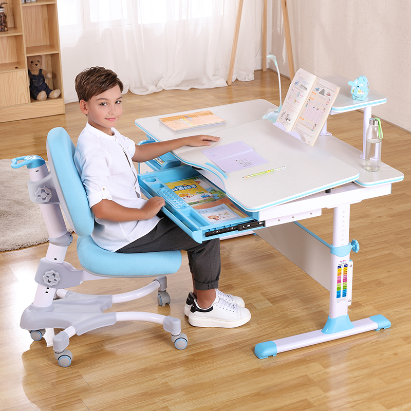 Space Saving Children Furniture Set Sliod Wood Study Table And Chair Set B12-C1-S