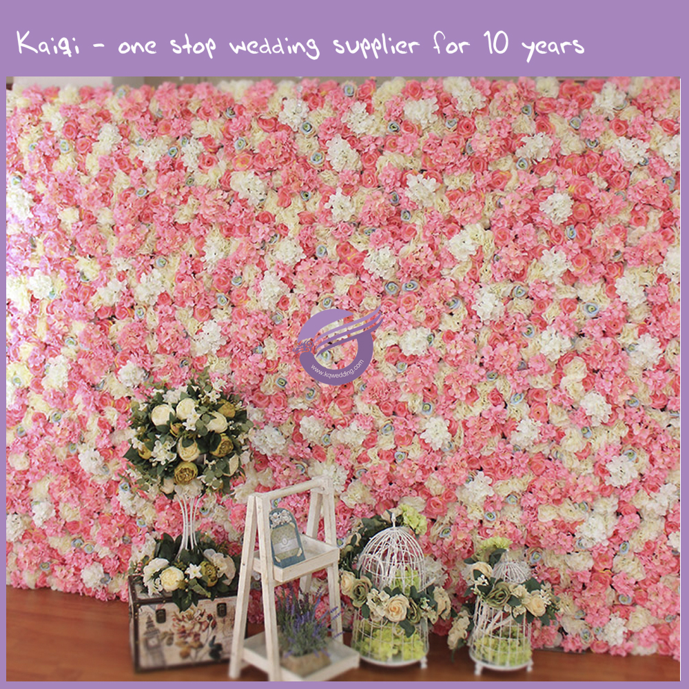 K9489 Pink Flower Wall Wedding Backdrop For Sale