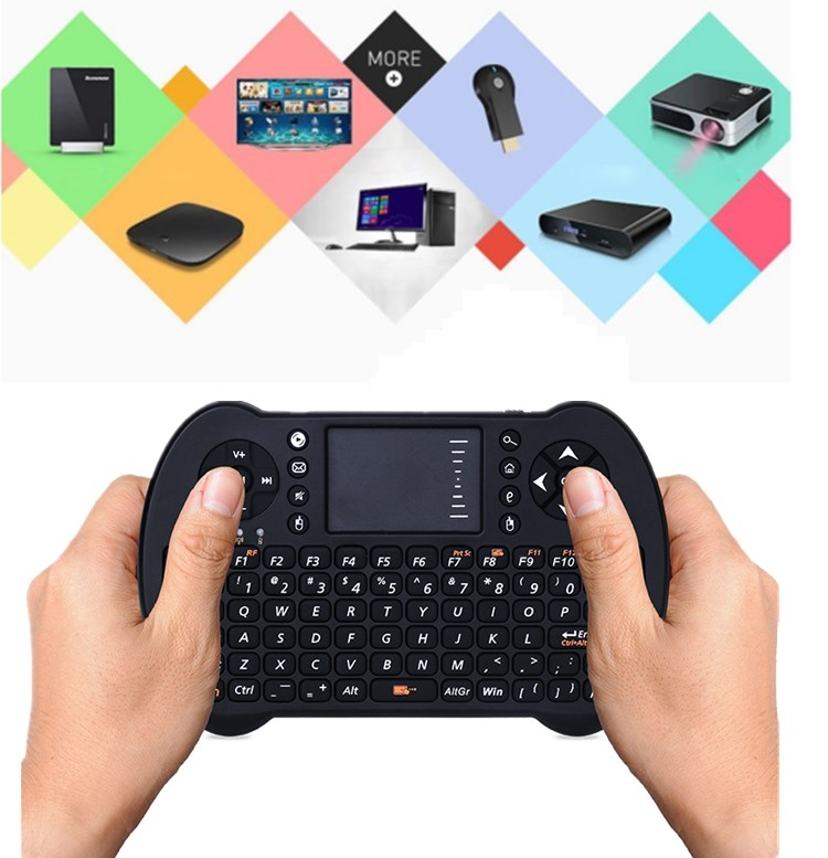 design T96 key mouse Rechargable Lithium ion Battery 2.4GHz Wireless Remote Control android phone keyboard