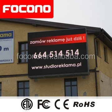 8 Years Warranty P10 Full Color Advertising LED Display Outdoor Waterproof LED Screen TV