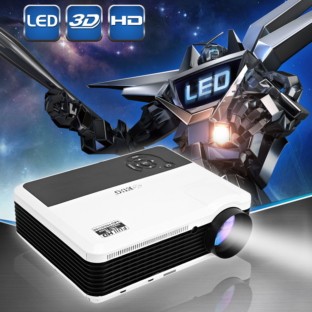 Home Theater 3600Lumens HDMI USB 3D Red Blue LCD Mini 1080P LED Wireless Video Portable digital Projector FULL HD