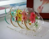 table Decoration & Accessories Type and acrylic Material wedding glass coaster
