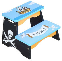 adjustable child wooden portable folding kick step stool
