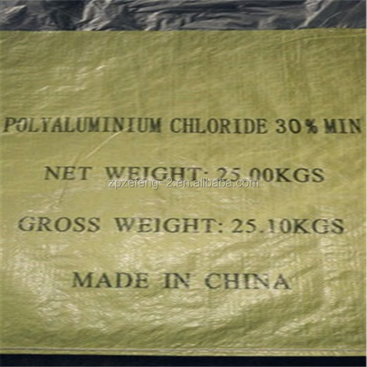 Manufacturer supply PolyAluminum Chloride(PAC) for waste Water Treatment