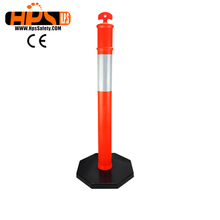 Top quality roadway plastic parking traffic bollard from China supplier