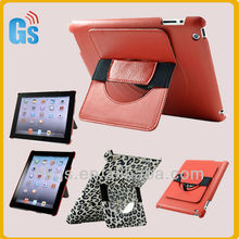 Hot! New designed 360 degree rotating handheld leather case for ipad 2/3/4