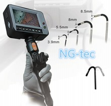 Articulating Industrial video borescope 5.5mm waterproof sewer pipe inspection camera