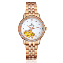 2018 china trade assurance rose gold mechanical watch stainless steel case automatic watch