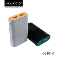 7800mah dual usb mobile power bank, lithium ion battery pack