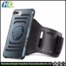 Sport running armband cellphone case 2 in 1 for IPhone 6 6plus 7 7plus