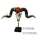 China Factory Wholesale Ram skull with big horns home decor wall art