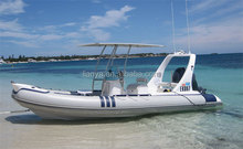 Liya 6.2 meter 10 people Hypalon boat rigid inflatable boat with engine