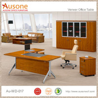 Manager executive luxury l shape elegant wooden study table designs