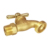Multi Turn Zinc T-handle Lead Free Brass Decorative Hose Bib