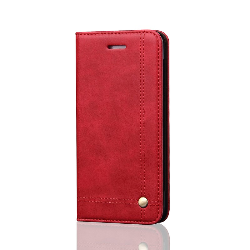 No Belt Luxury PU Leather Mobile Phone Flip Case for iPhone 5S SE , Factory In Stock