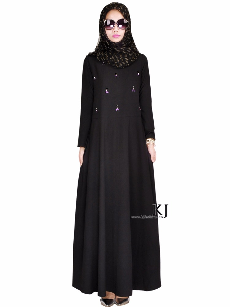 2017 good quality new models abaya black muslim dress designs latest women dubai with diamond