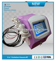 electrotherapy slimming equipment cavitation rf vacuum head