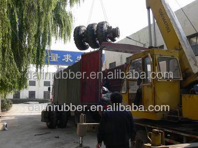 rubber tire for forklift truck