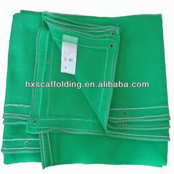 green scaffold safety netting