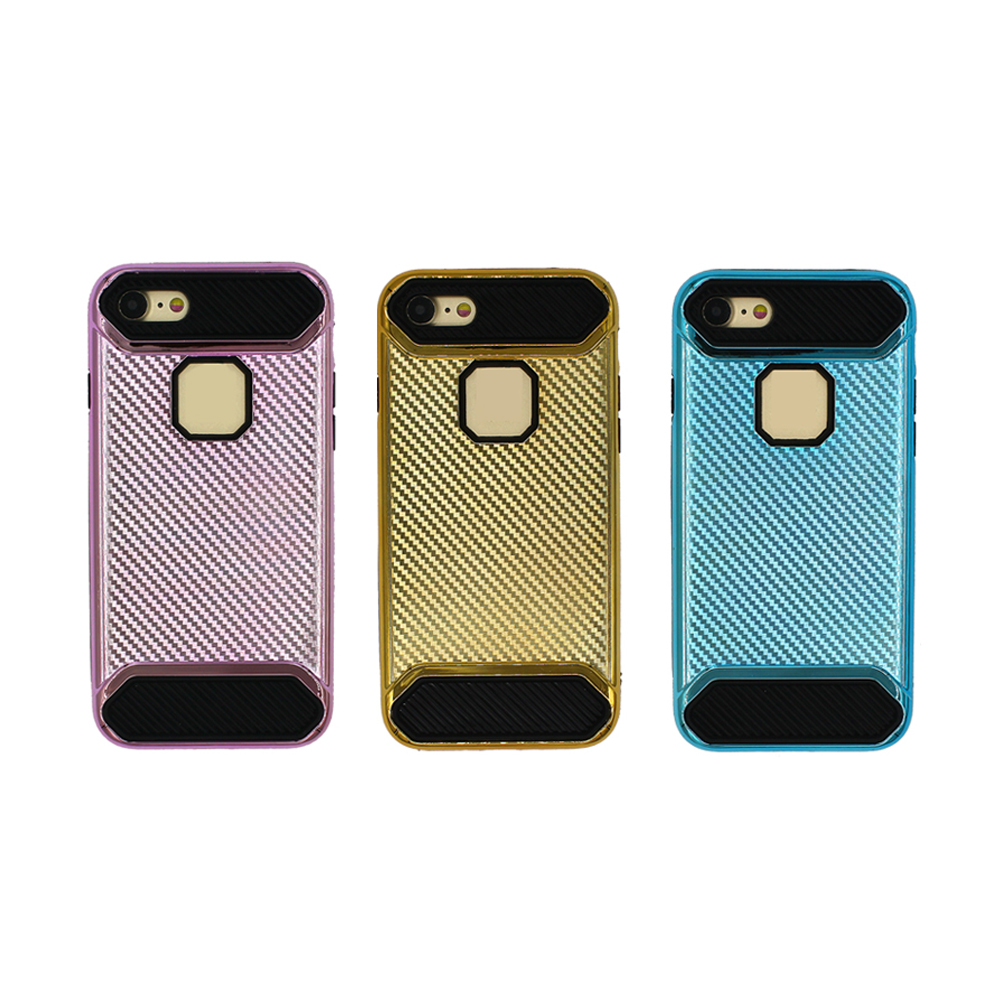 China new trading electroplating gold metal feel design cell phone case 2017 for iPhone 7