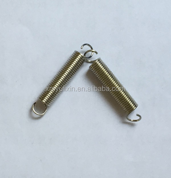 Silver color double hook tension spring
