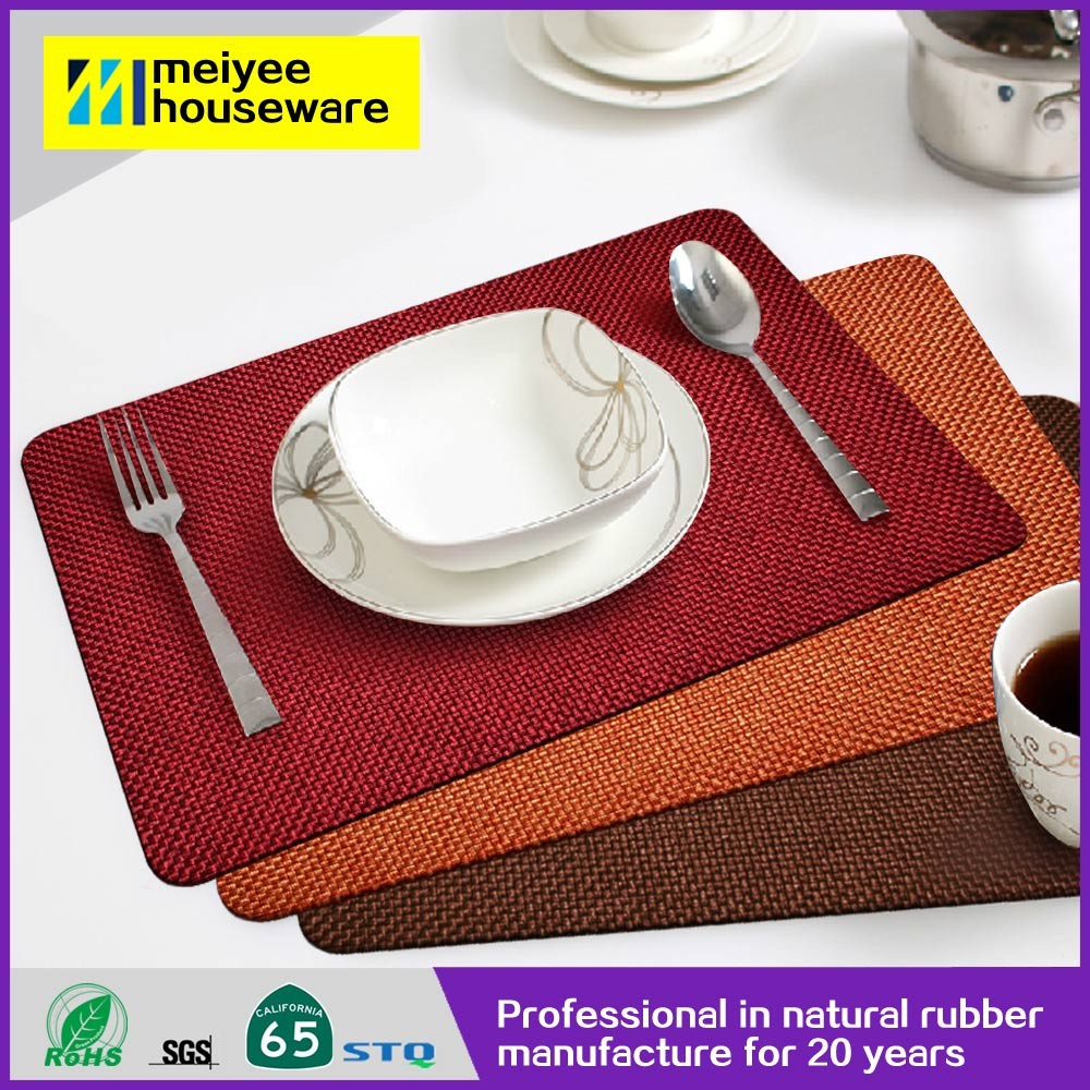 2016 new products high quality Natural Rubber baby divided handmade dining under table mat
