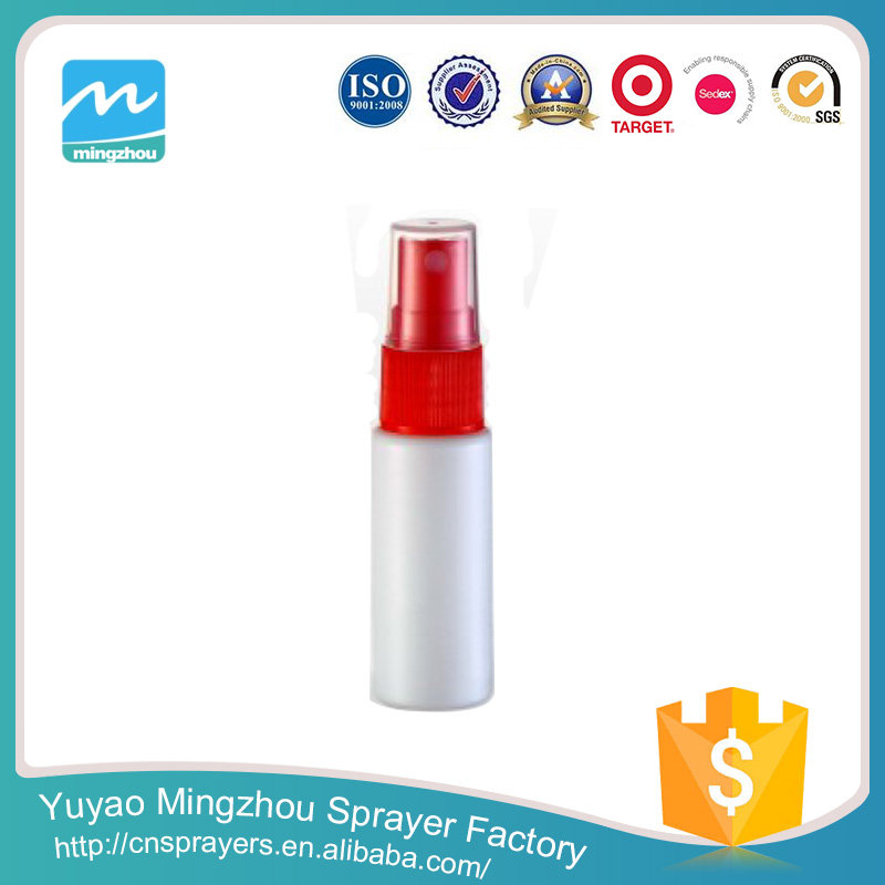 High Quality Manufacturer Supplier Popular Cheap 10ml White And Red Pump Pressure Spray Bottle