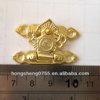 Gold plated small metal lock in bulk price butterfly shape