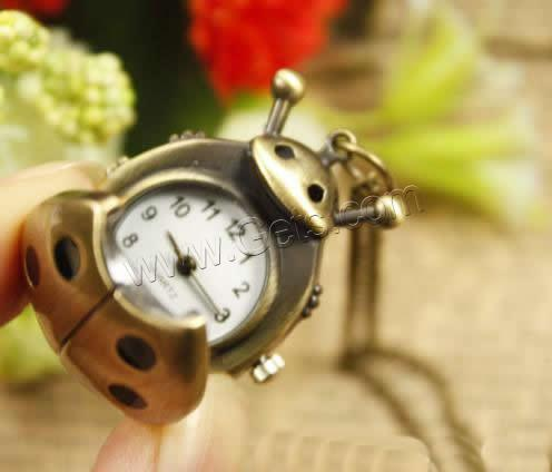 Zinc Alloy Ladybug Antique Ladybug Watch Necklace 804325