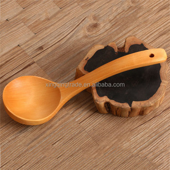 Natural Japanese Style Kitchen Cooking Wood Soup Spoon Healthy Wood Rice Spoon