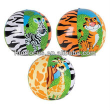 PVC inflatable zoo beach ball
