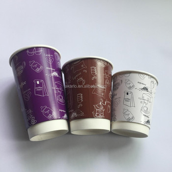 disposable custom printed paper coffee cup