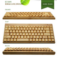 Hand Made Nature 100% Real Custom Bamboo Wood Wireless Keyboard Made In China