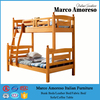 Raised Kids Double Wood Twin Beds