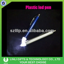 Plastic Light Tip Ball Pen With 2 Leds