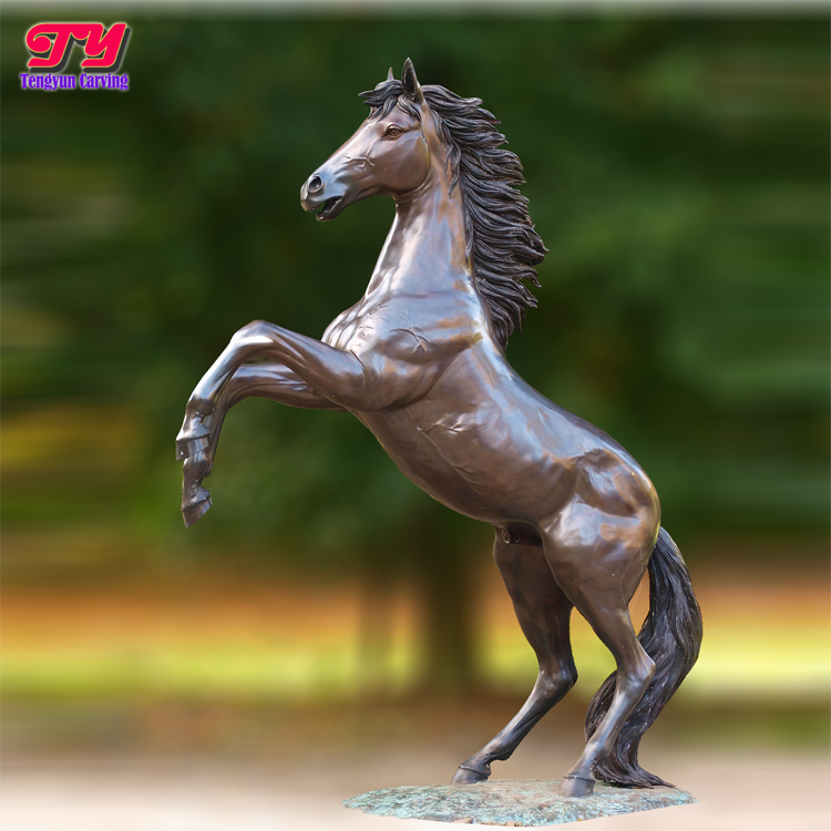 Garden decorative famous large cast bronze jumping horse sculpture
