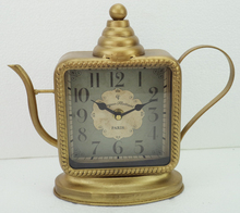 Antique Old Gold Color Beautiful Metal Table Clock