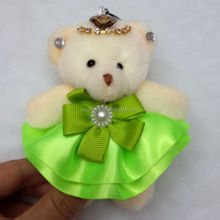 HY-65 12cm dressed small joint bears/plush soft mini bears