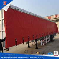 china trailer factory 3 axle dump and faltbed tarpaulin trailer for sale